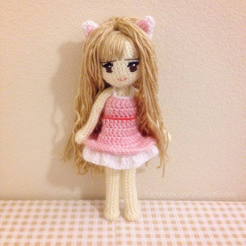 Kiki the Kitty Cat Girl Anime Doll with Dress at Makerist
