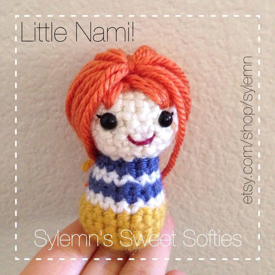 "Nami ""ONE PIECE"" Tiny Chibi Anime Kokeshi Doll at Makerist - Image 1"