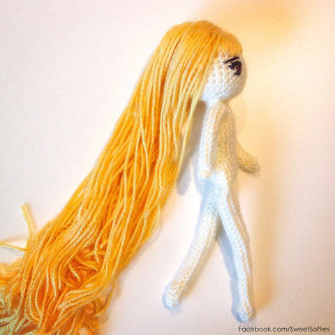 Human Body Female Figure Amigurumi Doll Base (with Japanese Anime Eyes and Hair Tutorial)
