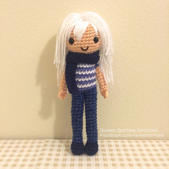"Ryou Bakura ""Yu-Gi-Oh!"" Amigurumi Japanese Anime Doll at Makerist - Image 1"