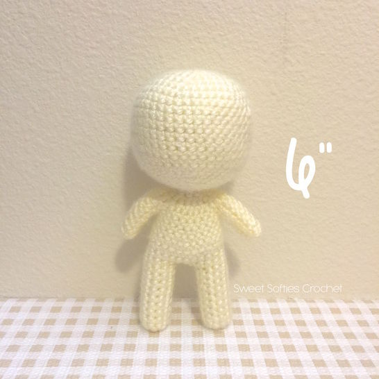 "Chibi Doll Base (6""), Human Body Child Toddler at Makerist - Image 1"