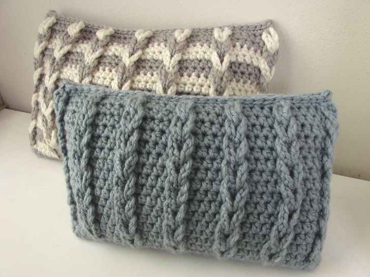 Chunky cushion cover with loops - crochet pattern at Makerist - Image 1