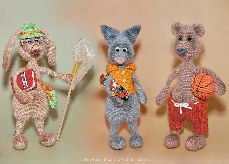 062 Hare, Bear and Cat with accessories Mak Borisenko at Makerist - Image 1