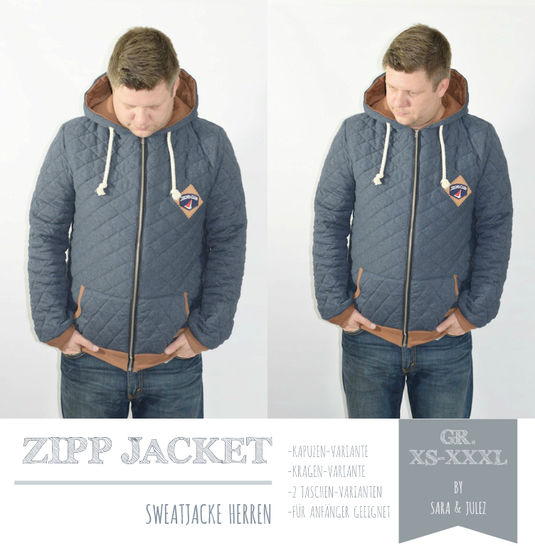 EBOOK ZIPP JACKET SWEATJACKE HERREN GR. XS-XXXL bei Makerist - Bild 1