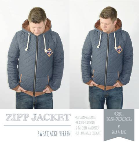 EBOOK ZIPP JACKET SWEATJACKE HERREN GR. XS-XXXL bei Makerist