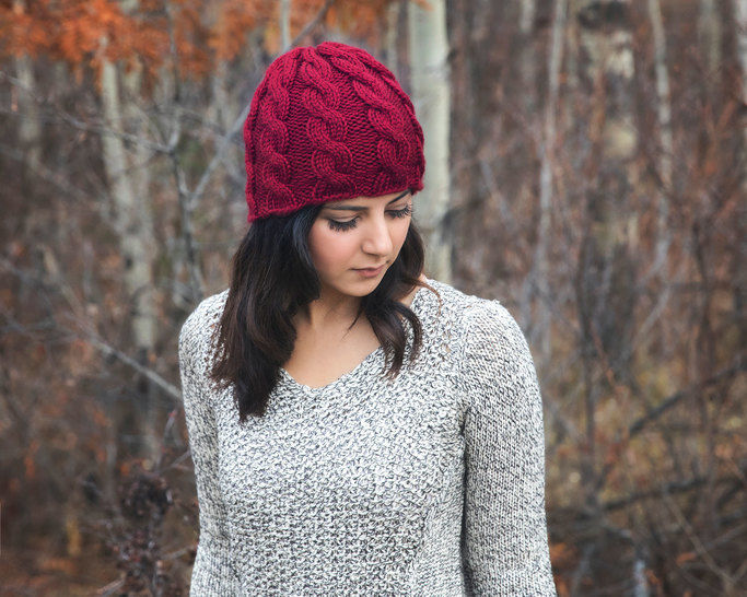 Chunky Cable Knit Hat Pattern at Makerist - Image 1