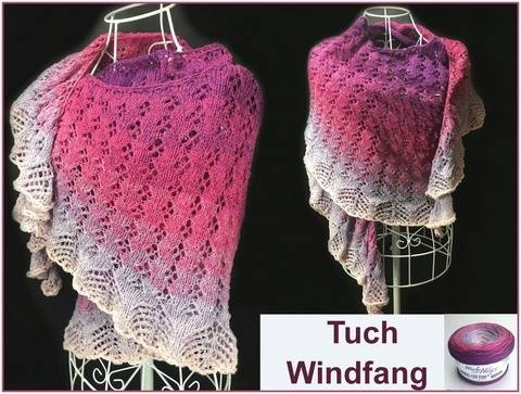 "Tuch ""Windfang"" mit 1 BOBBEL stricken"