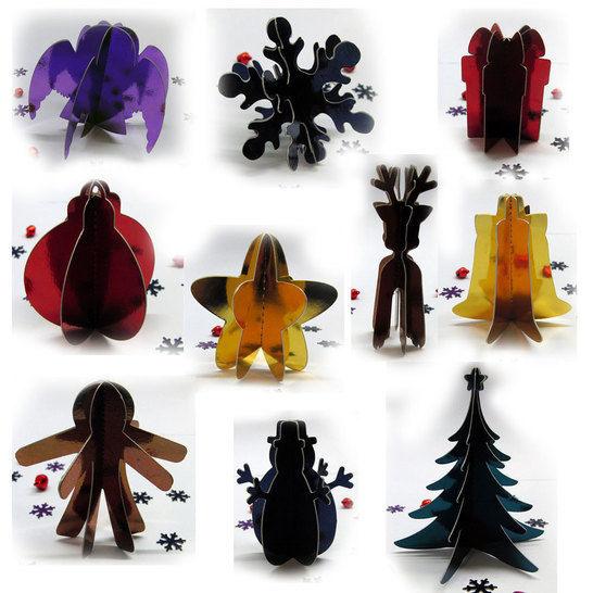 3D Weihnachtsdeko aus Papier (Plotterdatei) bei Makerist - Bild 1