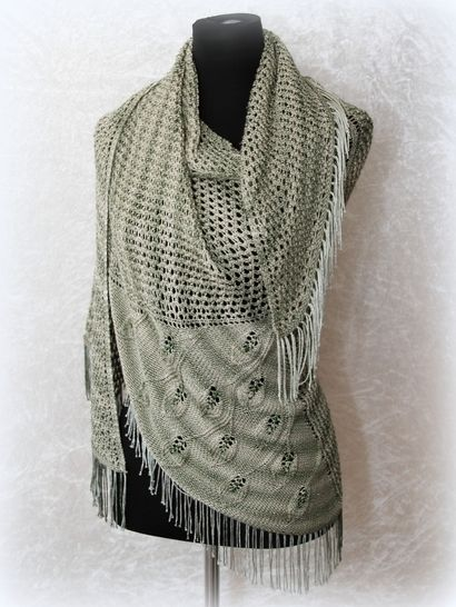 Knitting pattern shawl, wrap Eryn at Makerist - Image 1