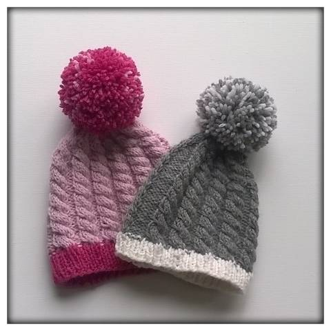 "Hat Knitting Pattern ""Josie's Winter Land"" at Makerist"