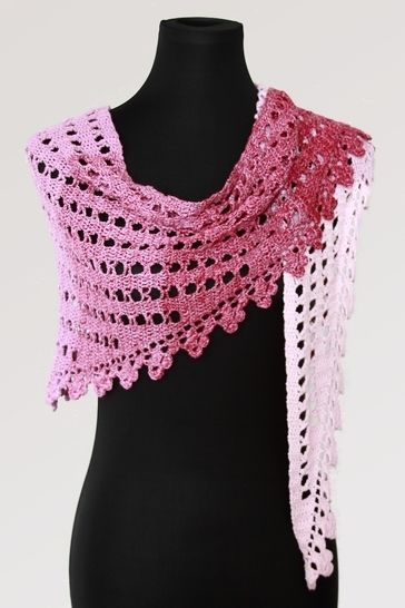 Crochet pattern scarf, shawl, wrap Little Pink Clouds at Makerist - Image 1