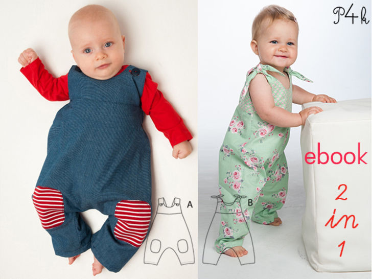 LOTTE + ARTURO Baby overall pattern with bows bundle at Makerist - Image 1