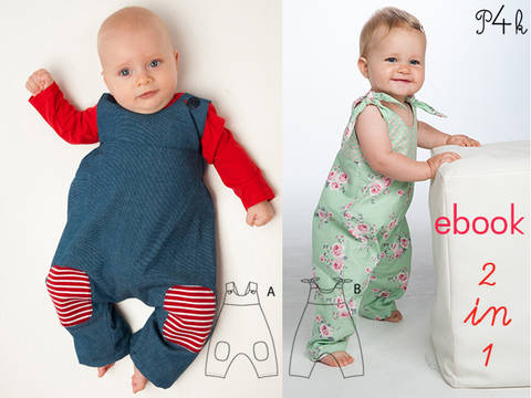 LOTTE + ARTURO Baby overall pattern with bows bundle