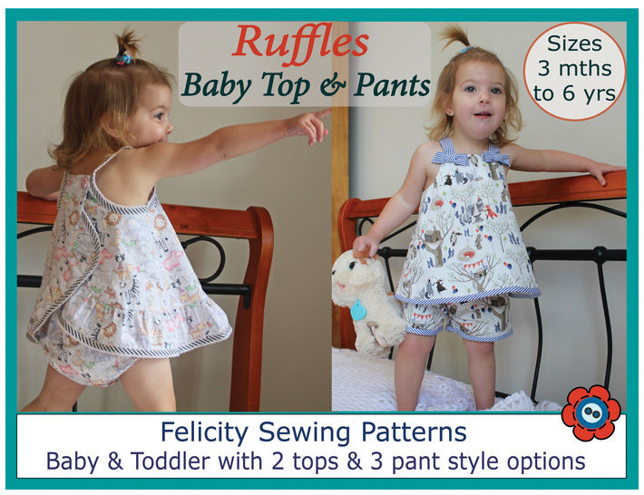 Baby Romper - sewing pattern & tutorial - Ruffles Top & Pants  at Makerist - Image 1