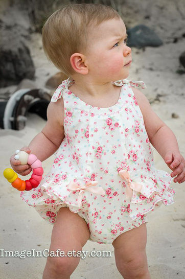 Baby Romper - sewing pattern - RoseBud Romper at Makerist - Image 1