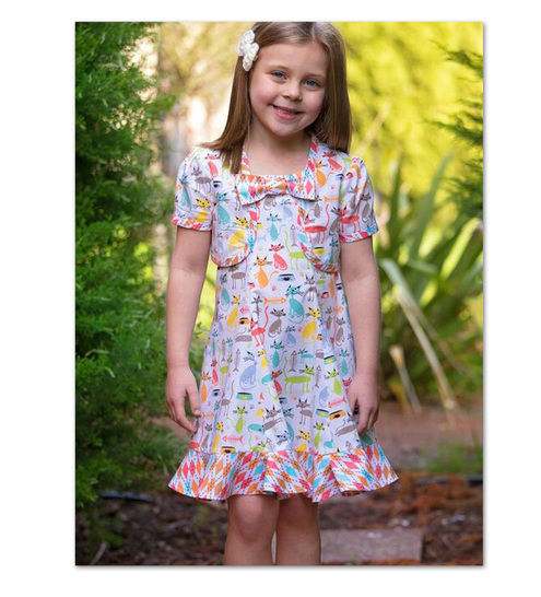 Girls dress sewing pattern - Carousel Sundress & Topper at Makerist - Image 1