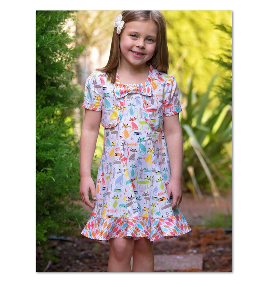 Girls dress sewing pattern - Carousel Sundress & Topper