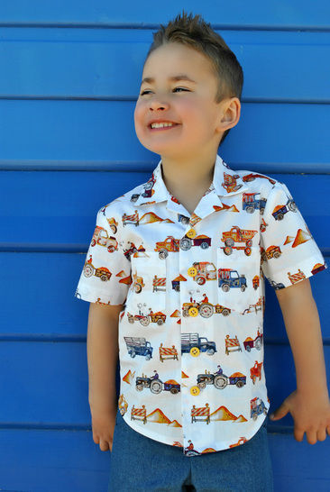 Boys shirt sewing pattern - Thomas Shirt - casual summer shirt at Makerist - Image 1
