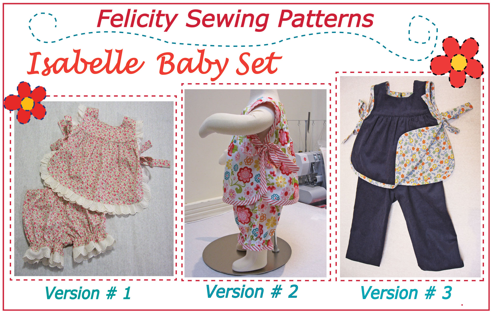 Baby & toddler top & pants sewing pattern - Isabelle Baby Set