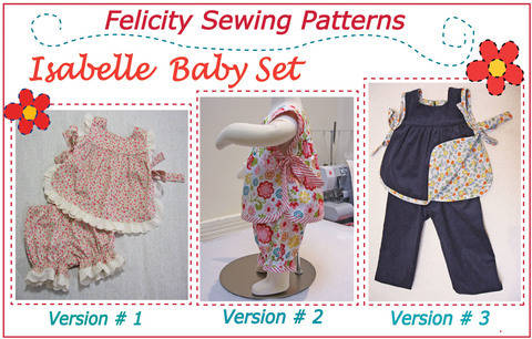 Baby & toddler top & pants sewing pattern - Isabelle Baby Set at Makerist