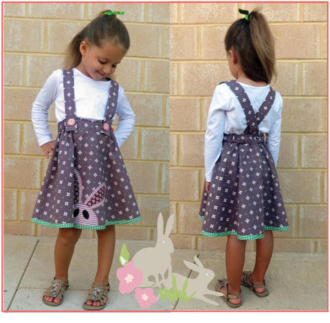 Girls skirt sewing pattern - Topsy Twirly Skirt with applique. at Makerist