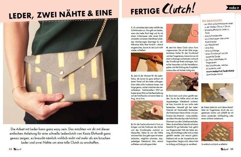 Makerist Mag Special: Stylishe Clutch aus Leder bei Makerist - Bild 1