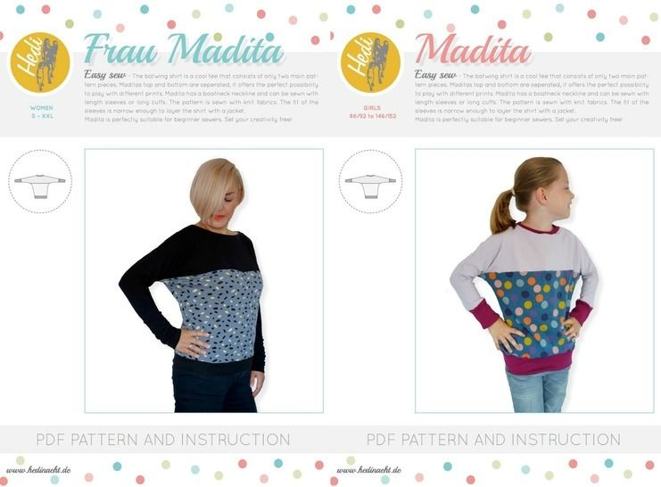 "Set: ""Frau Madita"" and  ""Madita"" for kids and women.  at Makerist - Image 1"