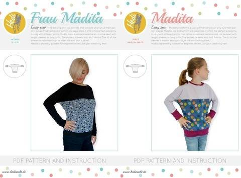 "Set: ""Frau Madita"" and  ""Madita"" for kids and women."