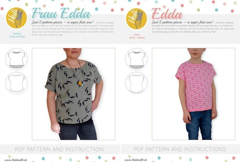 Set: Frau Edda and Edda for women and kids.  at Makerist - Image 1