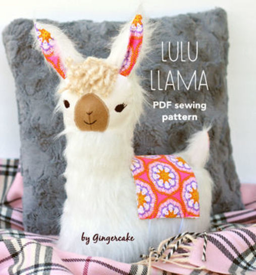 LuLu Llama Pillow sewing pattern at Makerist - Image 1