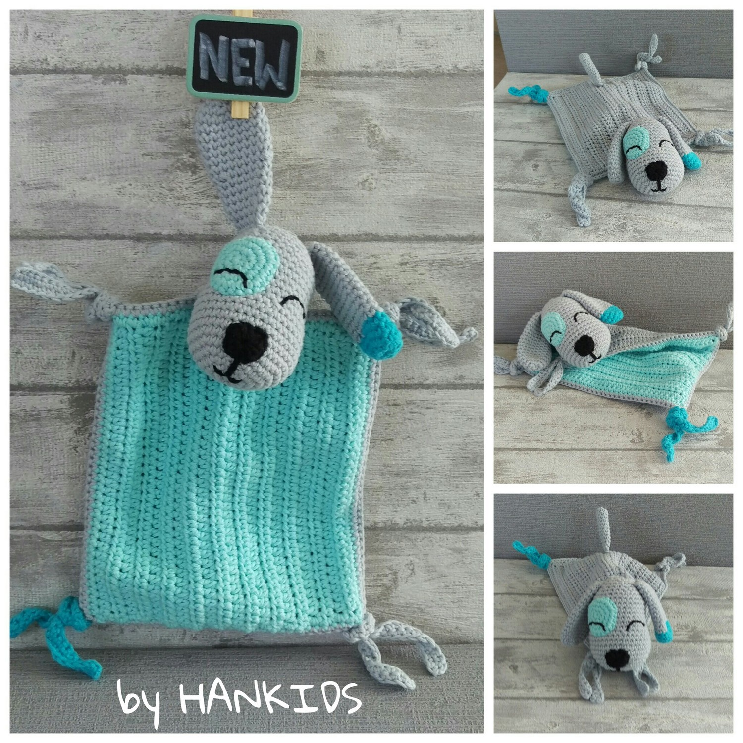 Crochet Pattern Snuggly Blanket Dog