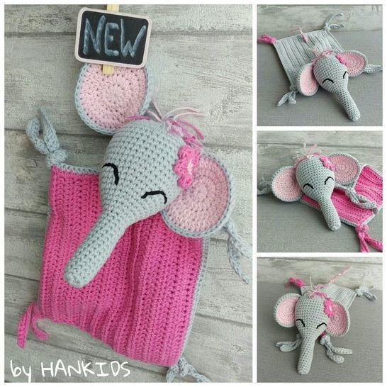 Crochet Pattern Snuggly Blanket Elephant at Makerist - Image 1