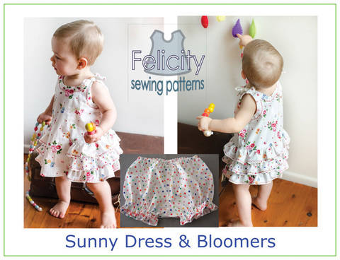 Baby dress & bloomers sewing pattern -- Sunny Dress & Bloomers at Makerist