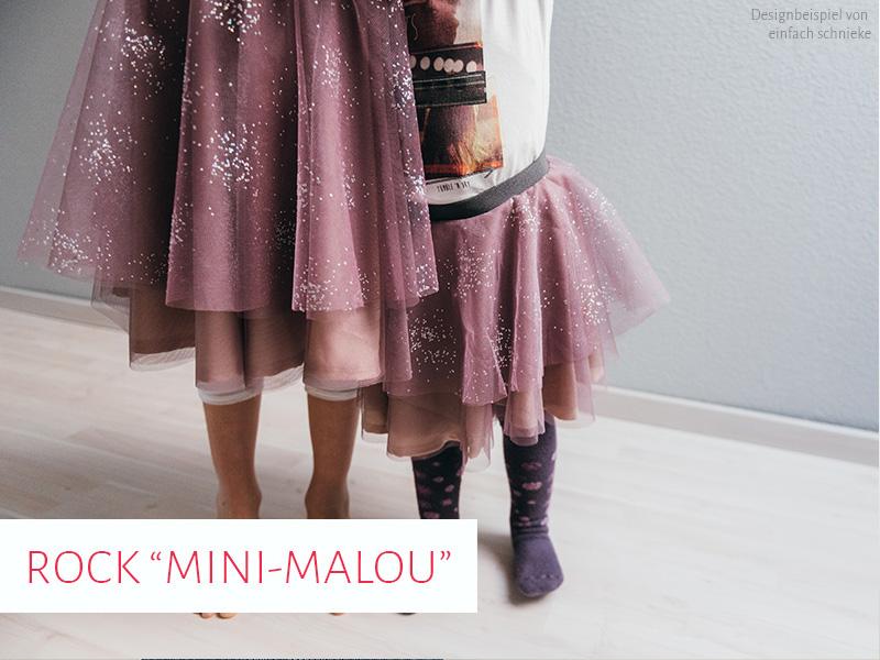 Stufenrock Mini-Malou bspw. aus Tüll, Gr. 92 - 164