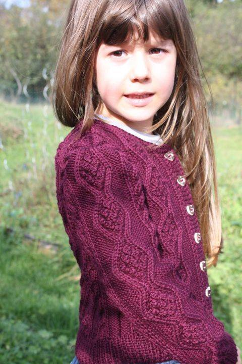 Sophia Cute Cable Cardigan for Girls 4-14 years Sizes 116, 122, 128, 134, 140 (EU) resp. 6, 7, 8, 9, 10 (US)