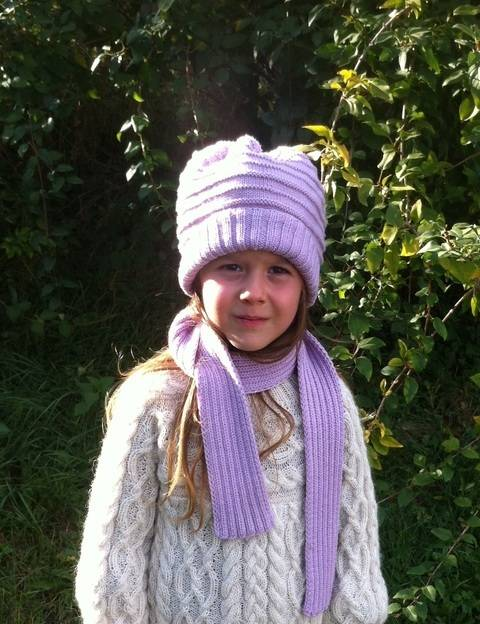 Elemiah Scarf and Hat for Girls at Makerist