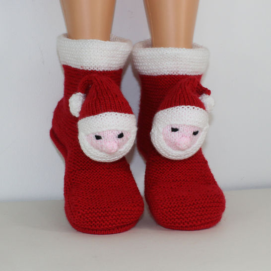 Childrens Santa Head Christmas Slippers at Makerist - Image 1