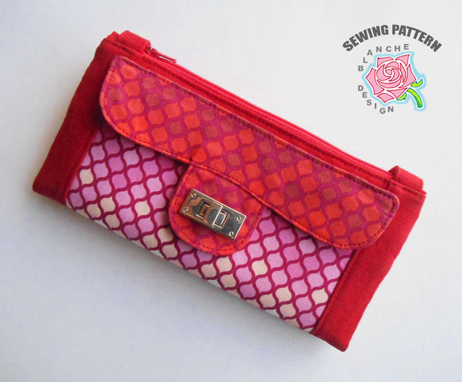 Crossbody Clutch Purse Pattern with a smart phone pocket at Makerist - Image 1