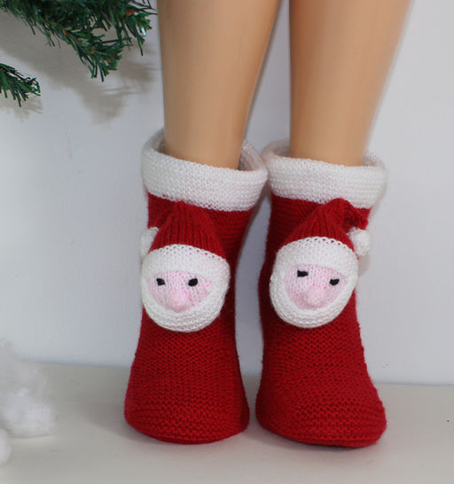 Mens Santa Head Christmas Slippers at Makerist - Image 1