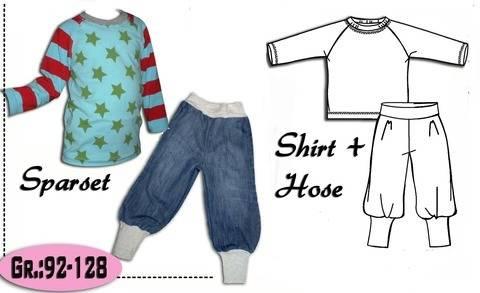 Sparset Shirt +Pumphose Gr.:92-128 Ebook bei Makerist