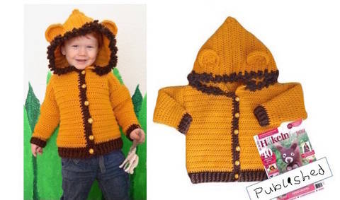 "E-Book ""Lion-Jacket"" size newborn up to age 8 years at Makerist"