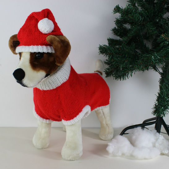 Dog Christmas Santa Hat and Coat CIRCULAR at Makerist - Image 1