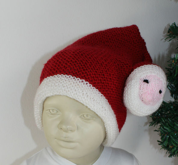 Toddler Santa Head Christmas Hat at Makerist - Image 1