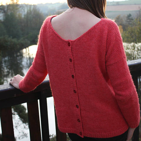 Sur Un Nuage - Women cardigan back buttoned XS to 3XL