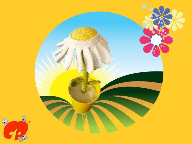 Häkelanleitung (022): Gänseblümchen bei Makerist - Bild 1