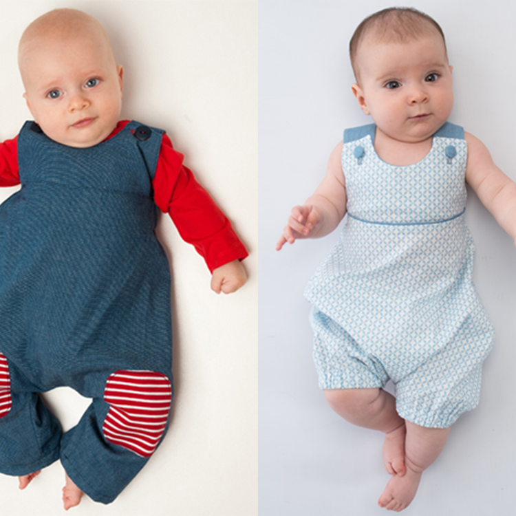 ARTURO + PHIL Jumpsuit set of patterns with bows or buttons