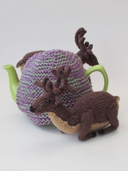 Deer in the heather tea cosy at Makerist - Image 1