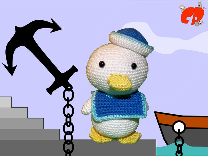 Häkelanleitung (039): Quack der Matrose bei Makerist - Bild 1