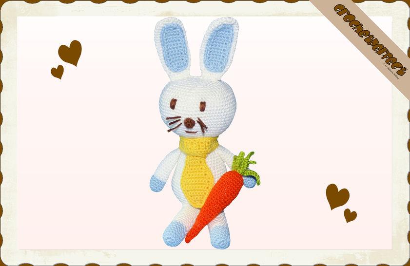 Häkelanleitung (044): Hase mit Karotte bei Makerist - Bild 1