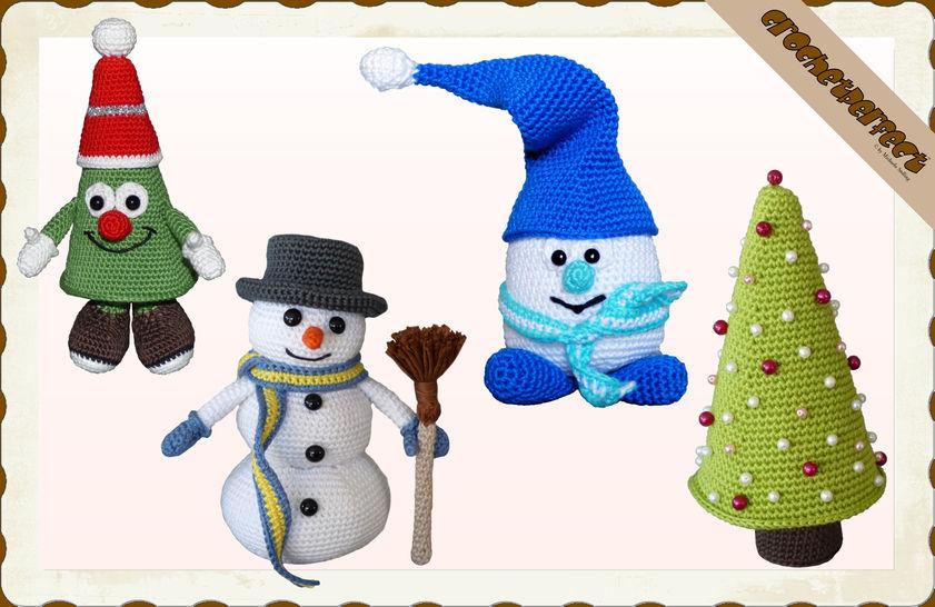 Häkelanleitung (054): Weihnachtsset bei Makerist - Bild 1